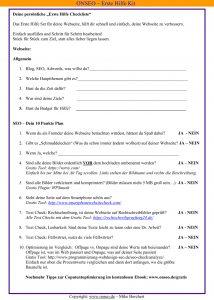 Microsoft Word - ONSEO Erste Hilfe Checkliste.doc