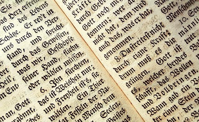 Ausschnit aus Buch mit Text