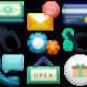 Verschiedene Icons für Online-Arbeit