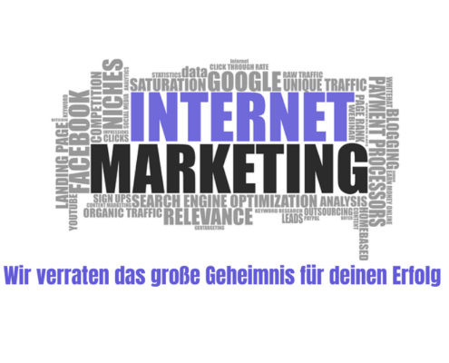"Bild mit Schrift ""Internet Marketing"", Thema Online Marketing"