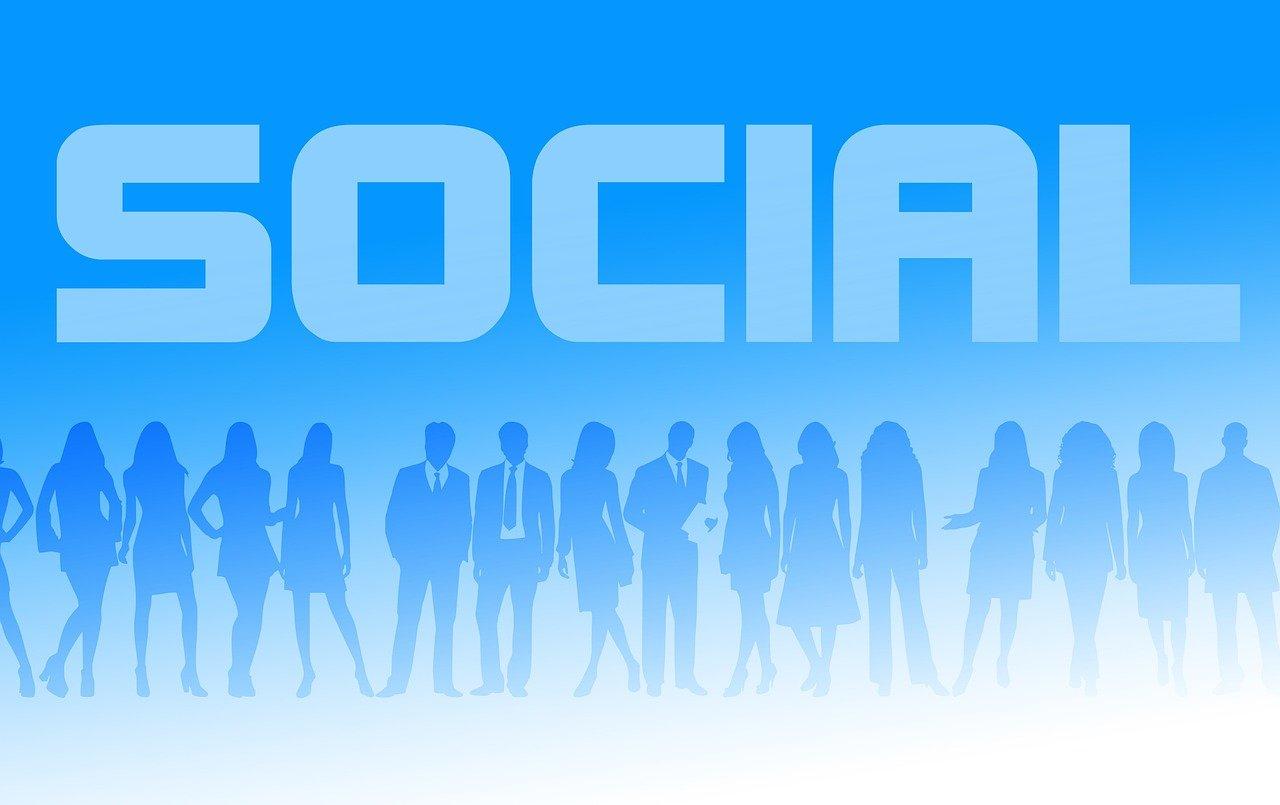"""Schriftzug """"Social"""""""